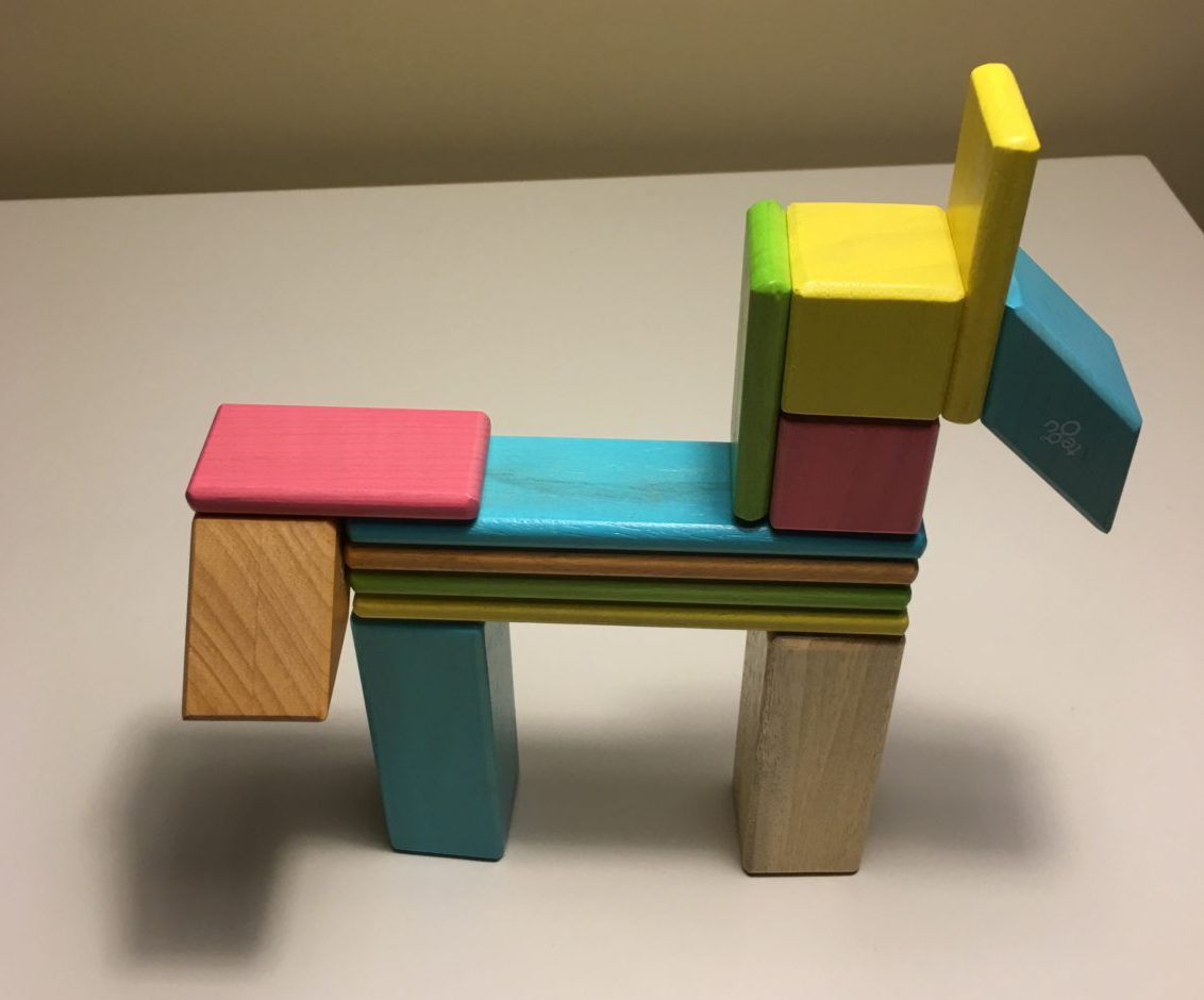 Tegu Blocks - Product Review Image - Built Horse